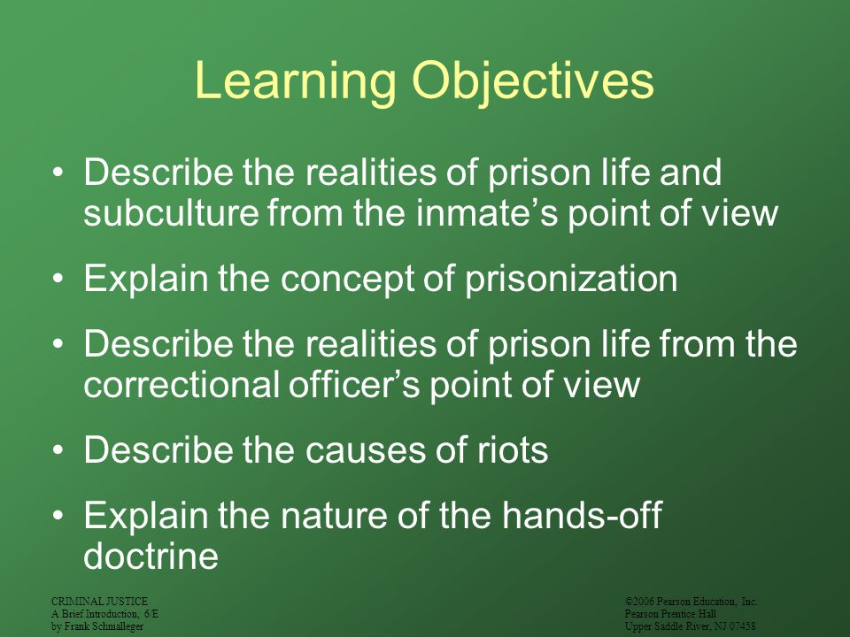CRIMINAL JUSTICE A Brief Introduction, 6/E by Frank Schmalleger ©2006 Pearson Education, Inc.