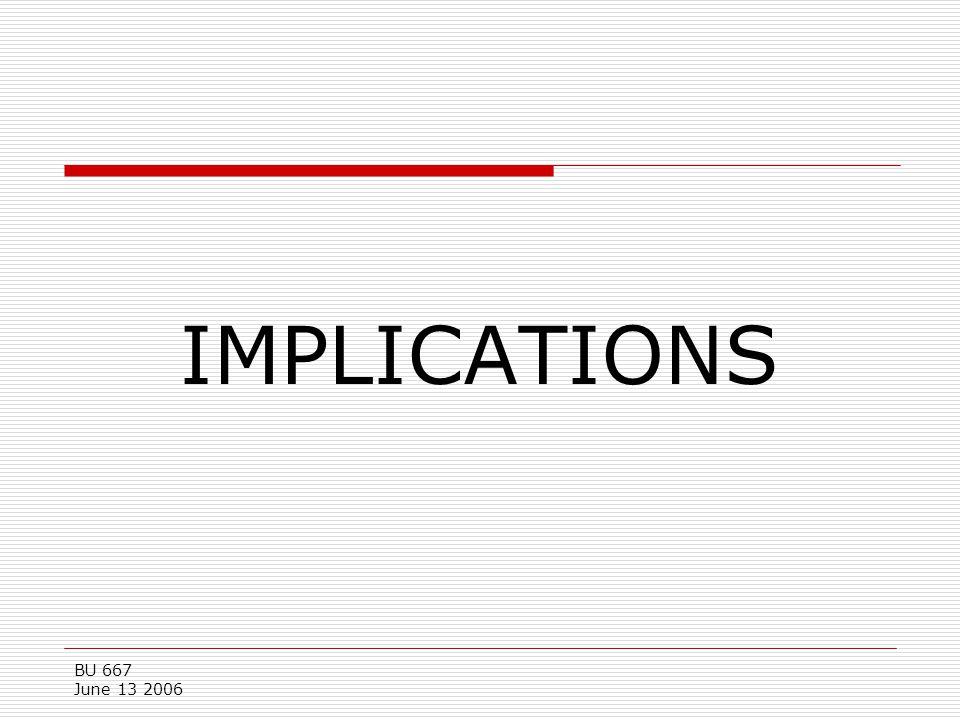 BU 667 June 13 2006 IMPLICATIONS