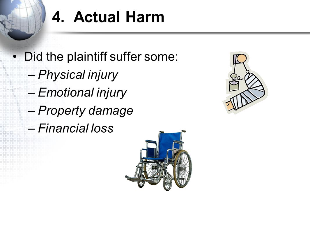 Defenses to Negligence Prove that 1 of the 4 elements of negligence was missing.