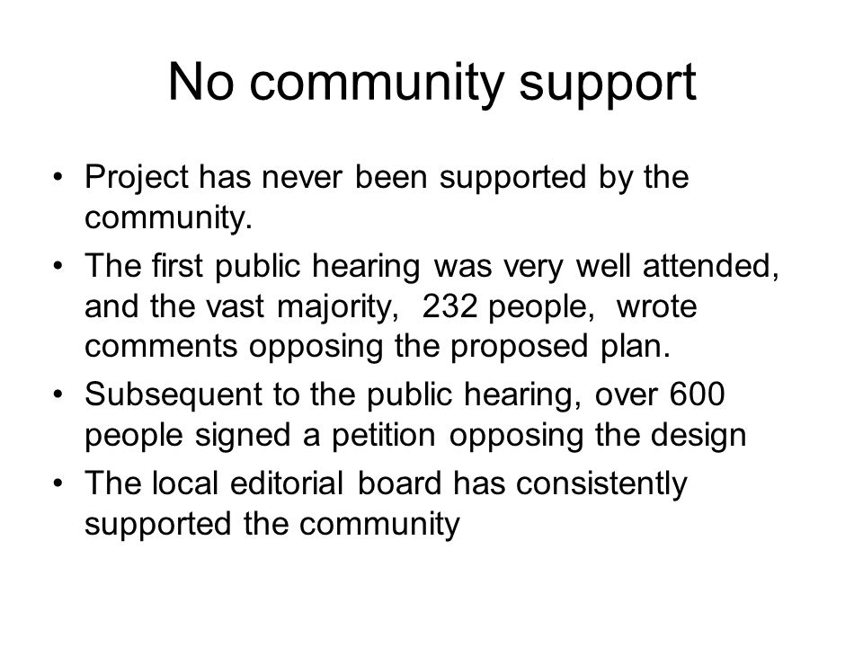 No community support Project has never been supported by the community.