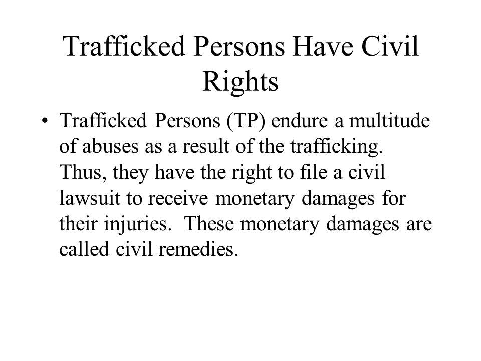 Victim of Trafficking Civil Remedy (18 U.S.C.
