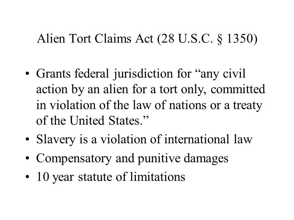 Alien Tort Claims Act (28 U.S.C.