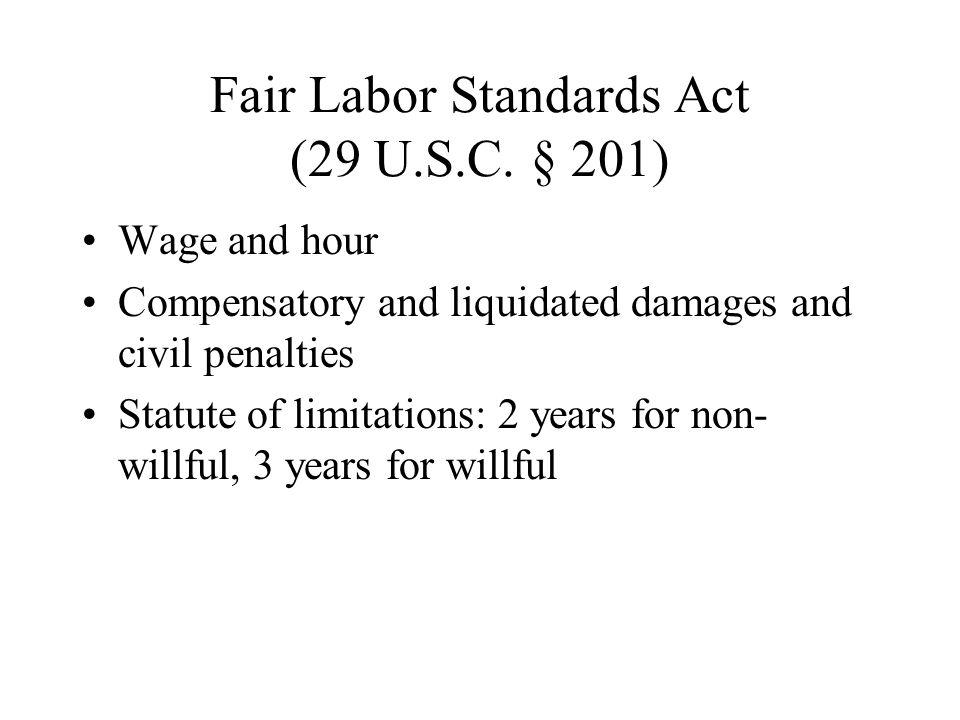Fair Labor Standards Act (29 U.S.C.