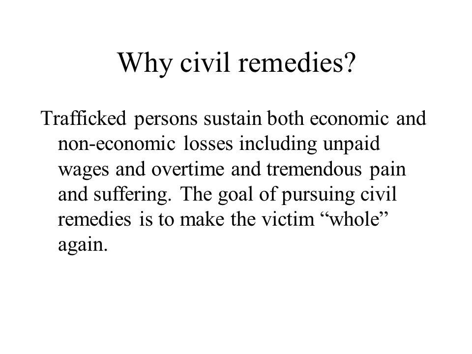 Why civil remedies.