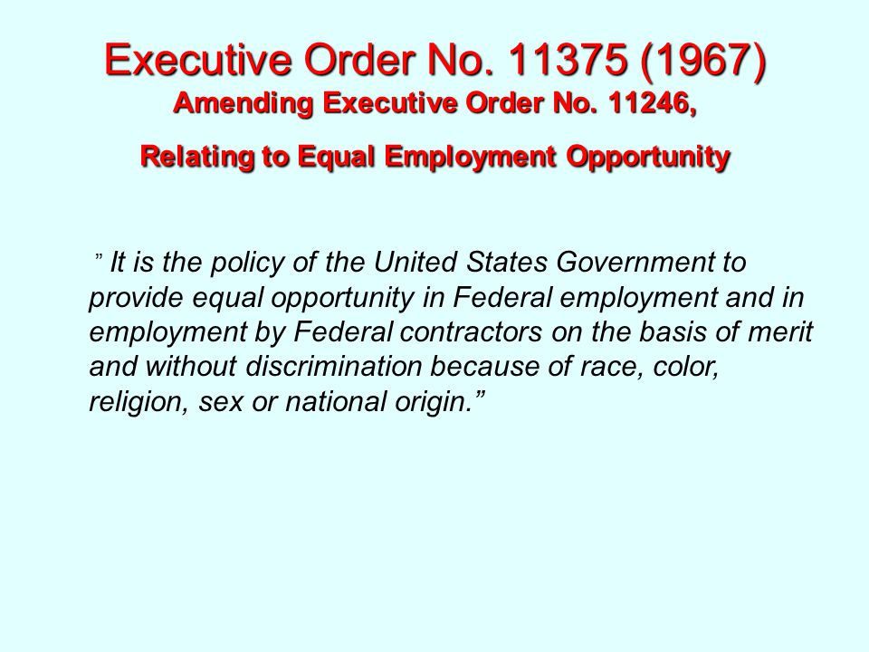 Executive Order No. 11375 (1967) Amending Executive Order No.