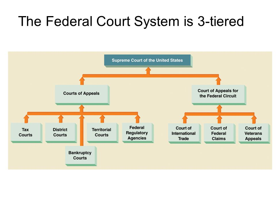 The Federal Court System is 3-tiered