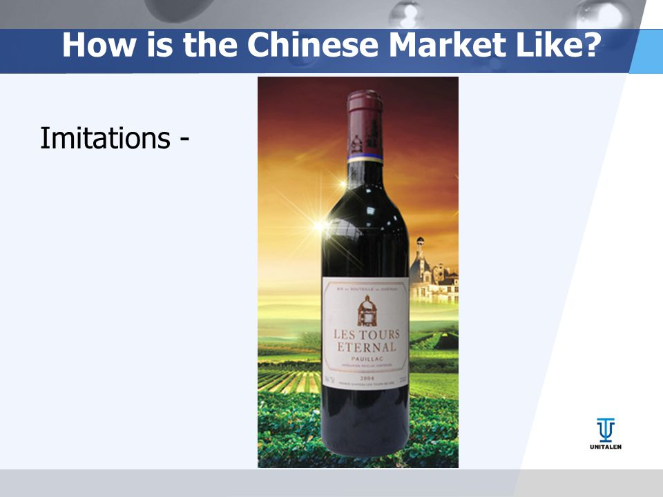 How is the Chinese Market Like? Imitations -