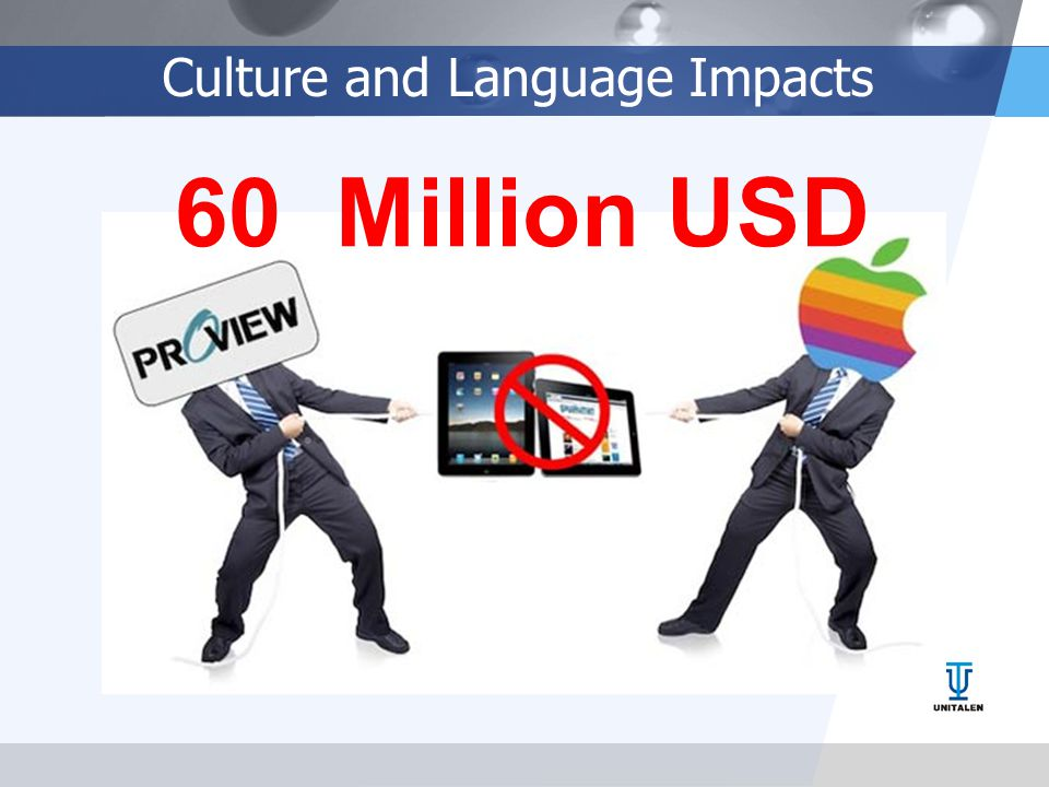 Culture and Language Impacts 60 Million USD