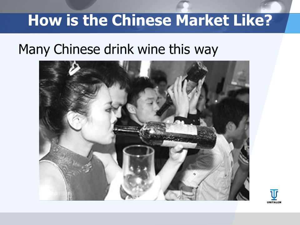 How is the Chinese Market Like? Many Chinese drink wine this way