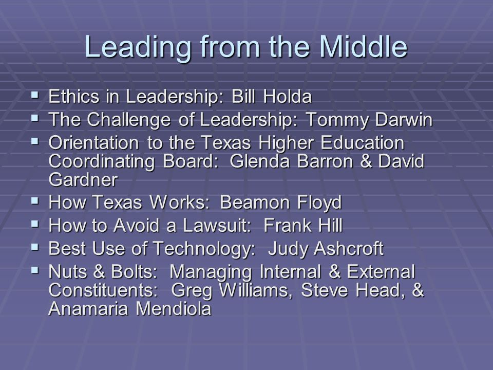 Ethics in Leadership  Morality is not an issue only when problems arise.