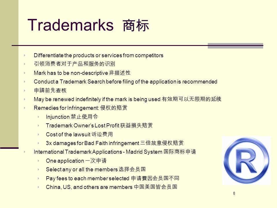 9 Trademark Infringement 商标侵权