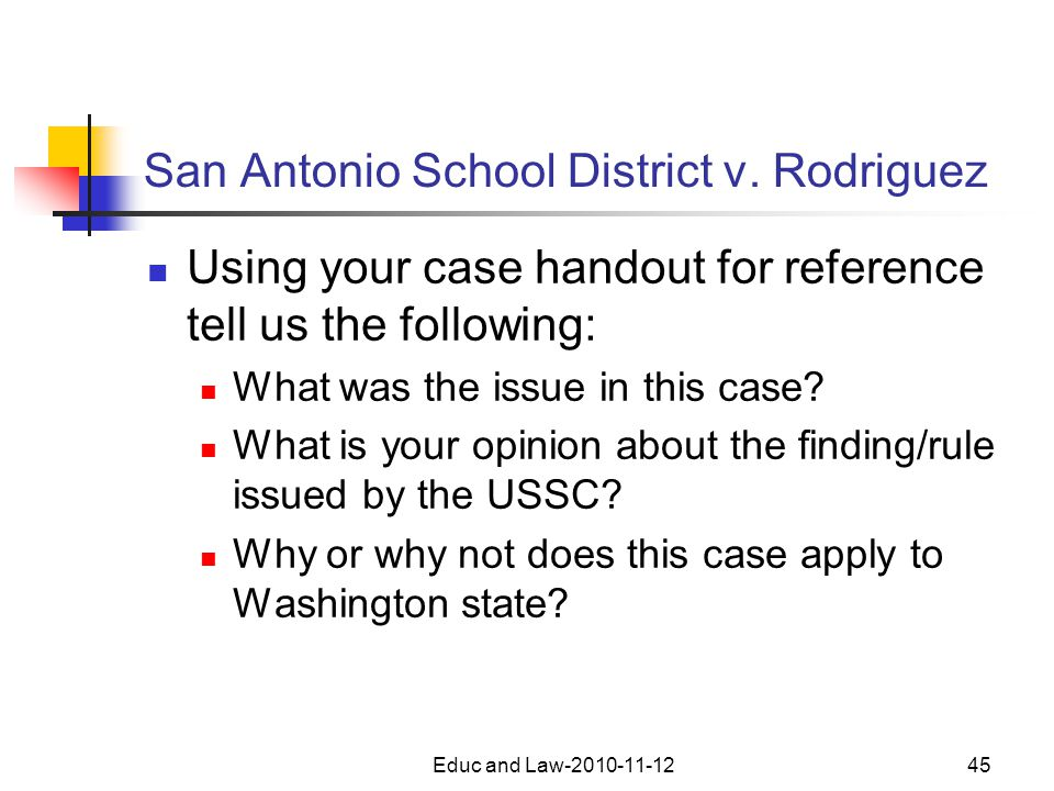 San Antonio School District v.