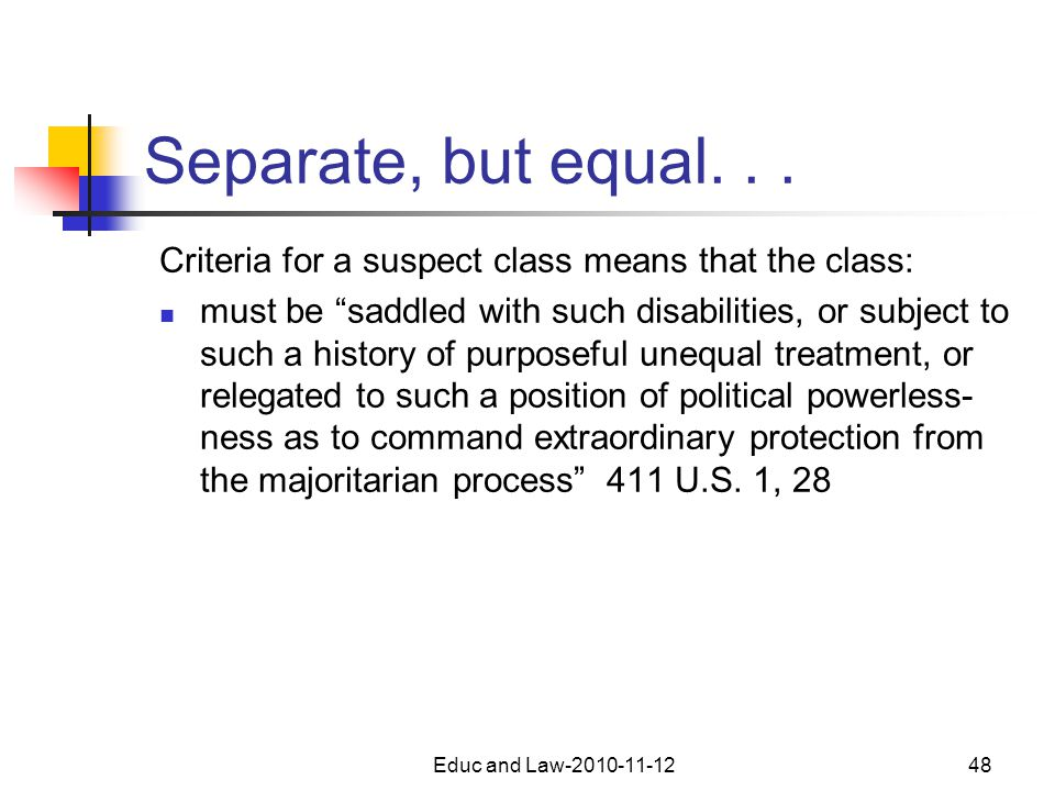 Educ and Law-2010-11-1248 Separate, but equal...