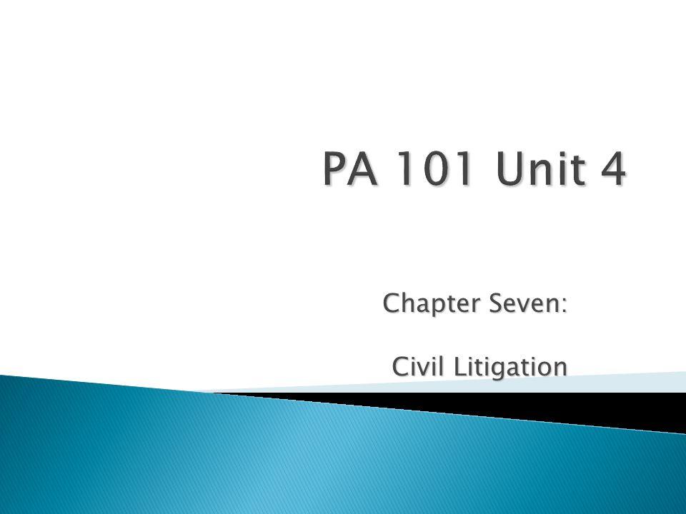 Chapter Seven: Civil Litigation