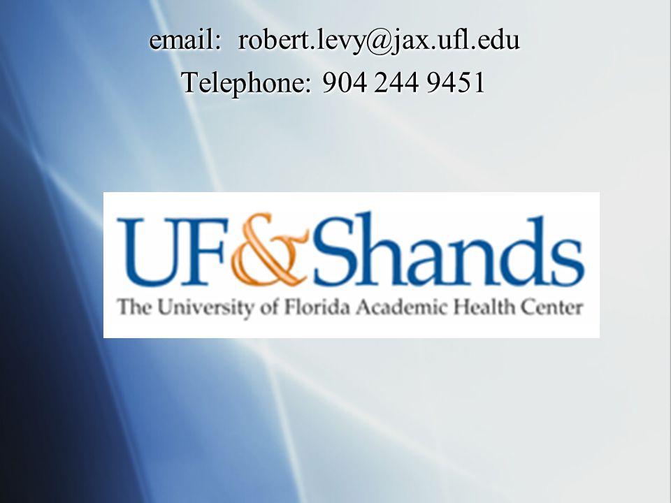 email: robert.levy@jax.ufl.edu Telephone: 904 244 9451