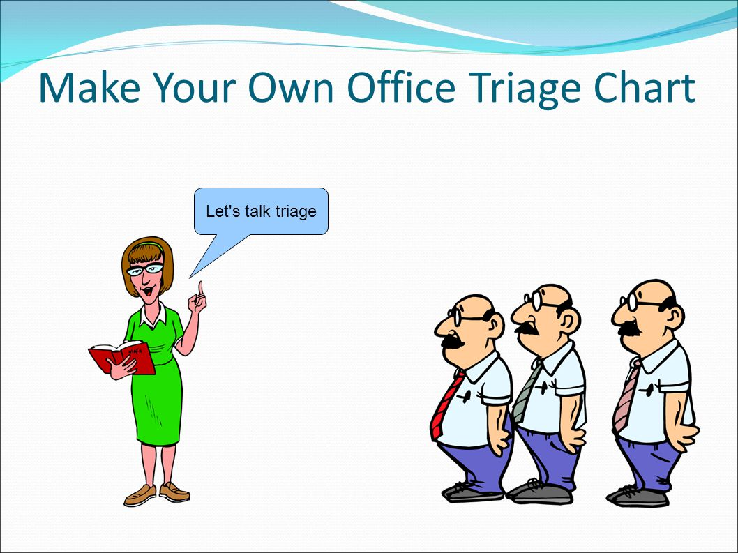 Make Your Own Office Triage Chart Let s talk triage