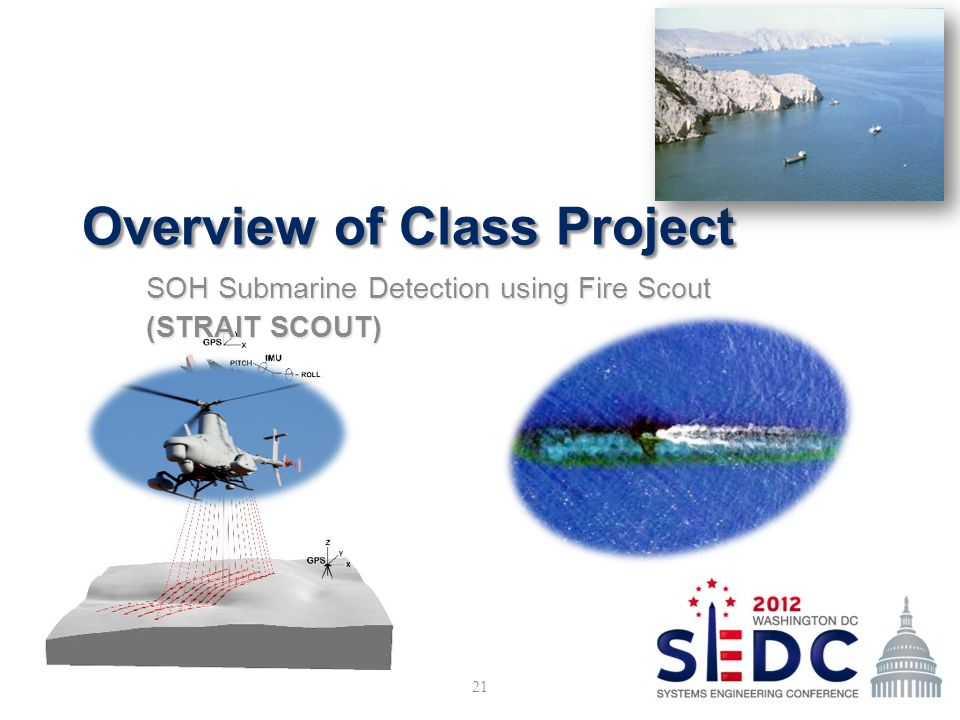 Overview of Class Project SOH Submarine Detection using Fire Scout (STRAIT SCOUT) 21