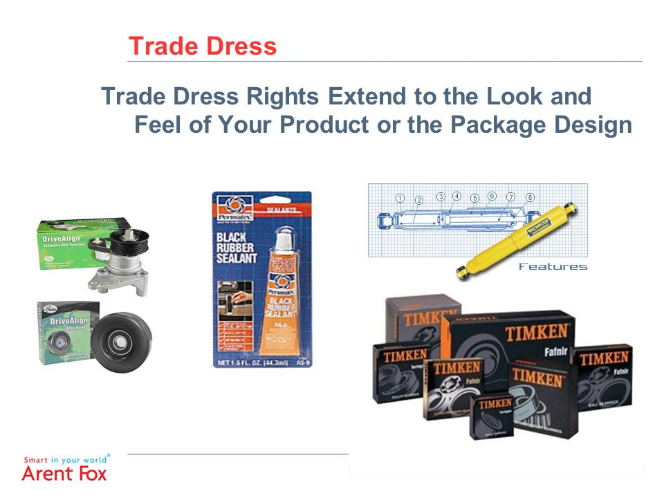 Trade Dress Trade Dress Rights Extend to the Look and Feel of Your Product or the Package Design