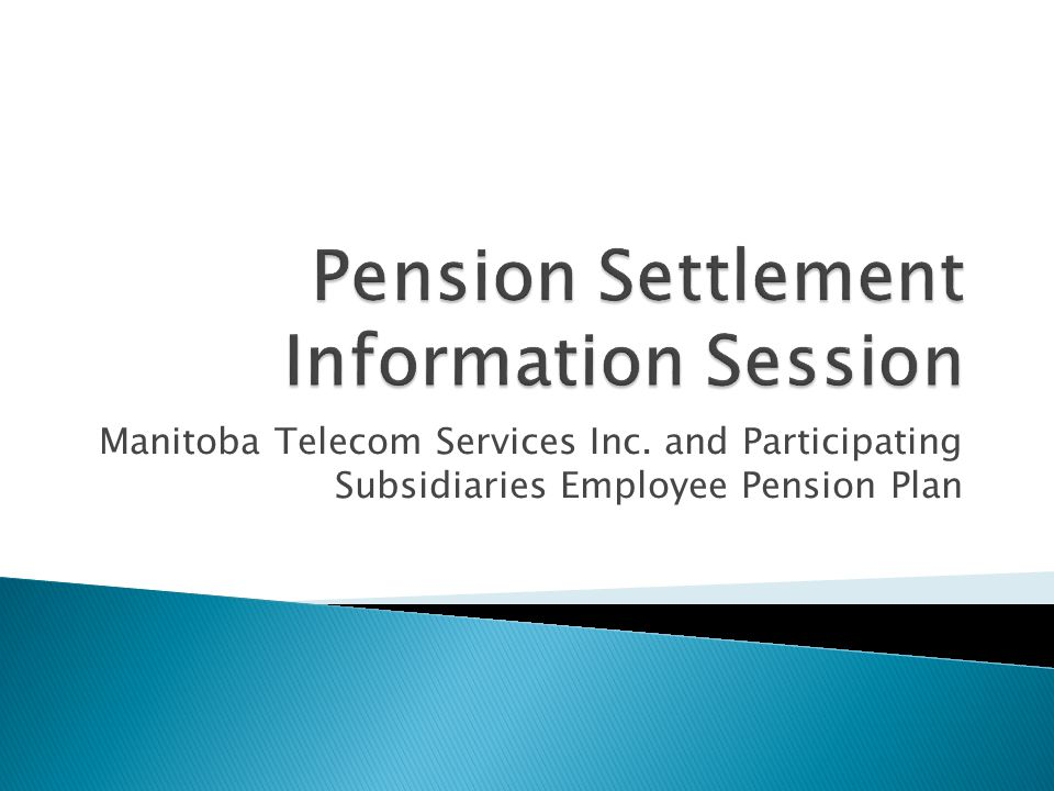 Manitoba Telecom Services Inc. and Participating Subsidiaries Employee Pension Plan