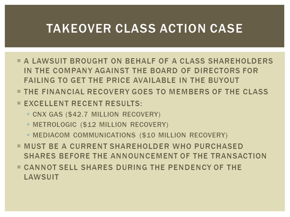  CURRENT SHAREHOLDERS CAN USE THE BOOKS AND RECORDS INSPECTION STATUTES ON THE BOOKS IN MANY STATES TO INVESTIGATE POTENTIAL WRONGDOING AT THE COMPANY  REQUIREMENTS:  CURRENT SHAREHOLDER  PROOF OF OWNERSHIP  VERIFICATION  POWER OF ATTORNEY TO INSPECT RECORDS  INSPECTION DEMAND MUST BE FOR A PROPER PURPOSE - INVESTIGATING CLAIMS OF MISMANAGEMENT AND WRONGDOING IS A PROPER PURPOSE  IF THE COMPANY REFUSES TO PRODUCE DOCUMENTS OR DOES NOT PRODUCE SUFFICIENT DOCUMENTS, A SHAREHOLDER CAN BRING A STREAMLINED LAWSUIT TO COMPEL PRODUCTION BOOKS AND RECORDS DEMANDS