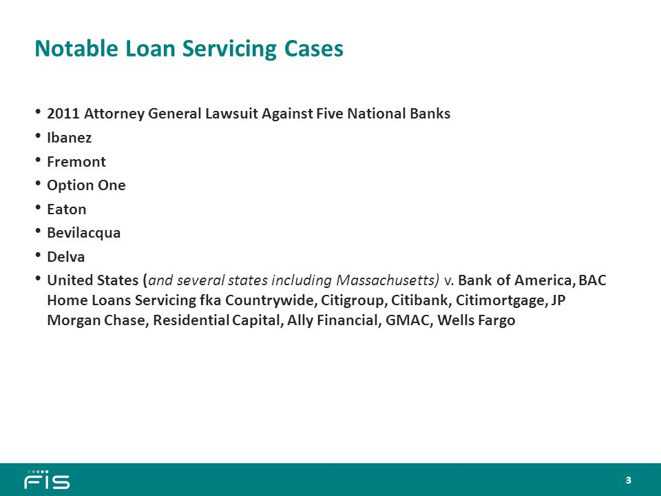 Lawsuit Against Five National Banks, December 2011 The Five National Banks Named in the Lawsuit: 1.
