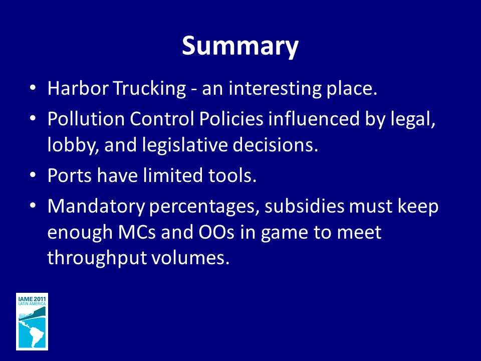Summary Harbor Trucking - an interesting place.