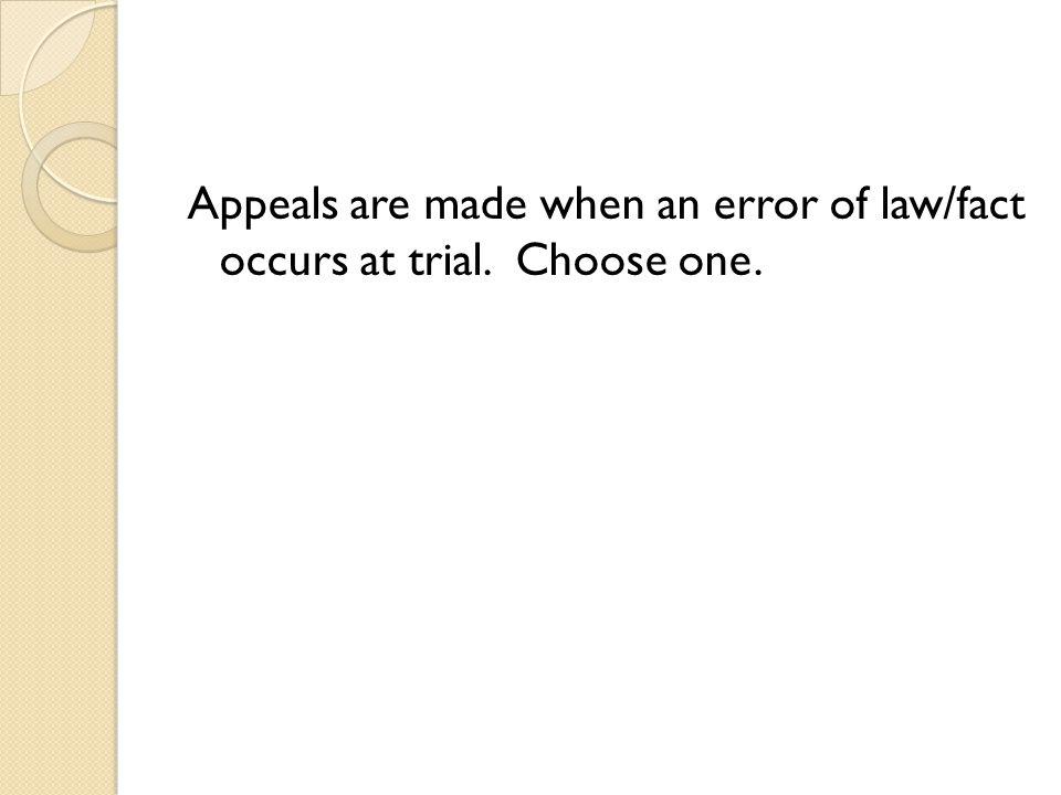 Errors of law.