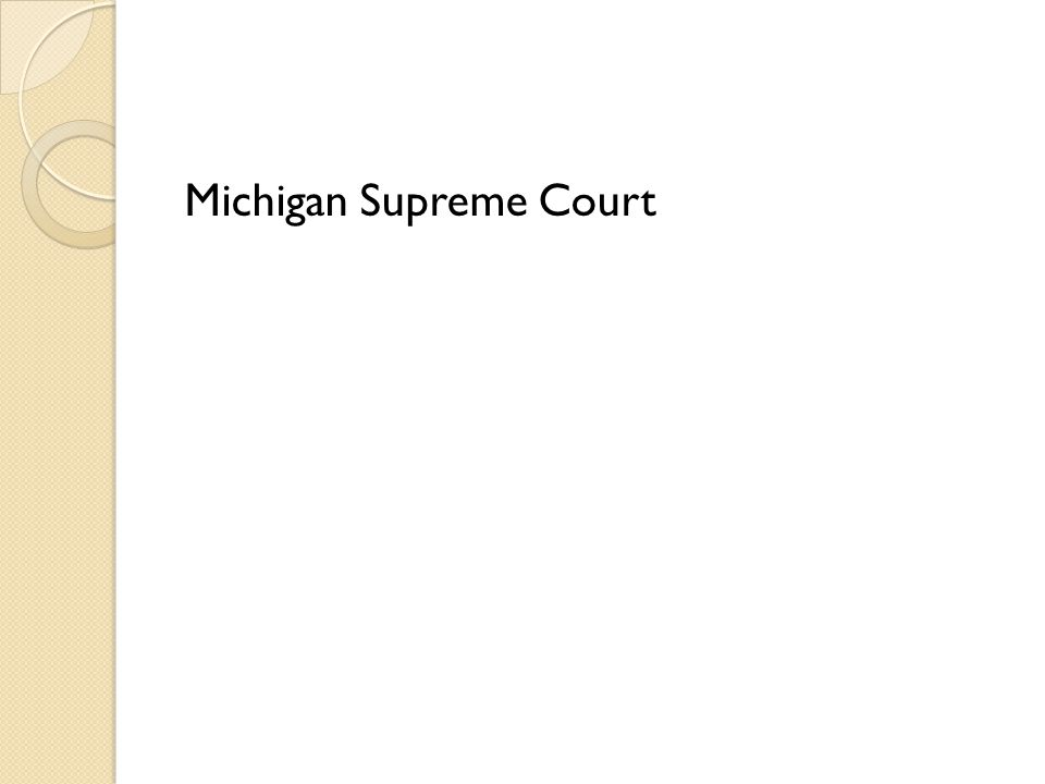 How many justices sit on the Michigan Supreme Court?