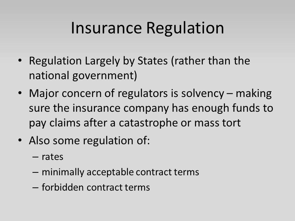Types of Insurance Two General Divisions – Life/Health – Property/Casualty Within Property/Casualty: Several Types Automobile Homeowners Business property