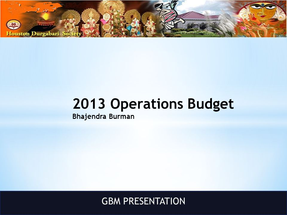 GBM PRESENTATION Puja Update Soova Sen