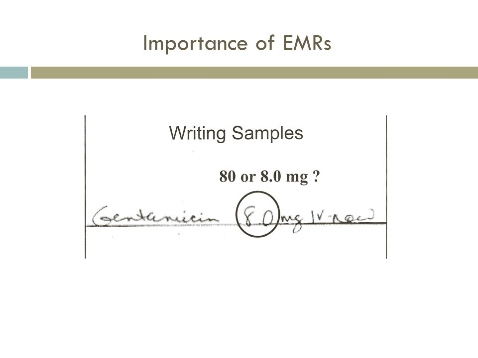 Importance of EMRs