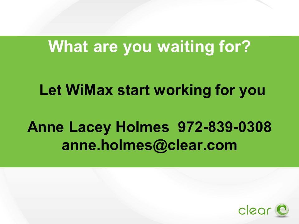 What are you waiting for.