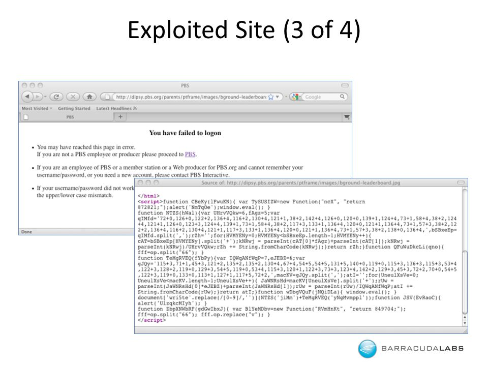 Exploited Site (3 of 4)