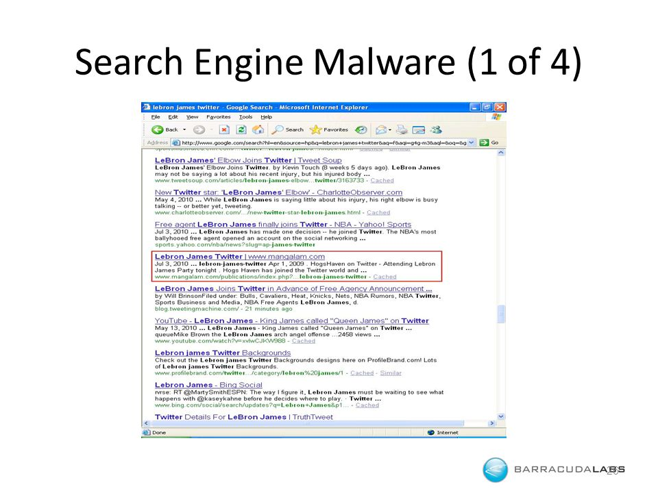 Search Engine Malware (1 of 4) 26
