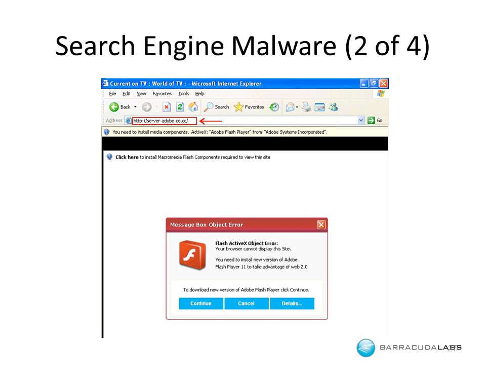 Search Engine Malware (2 of 4) 27