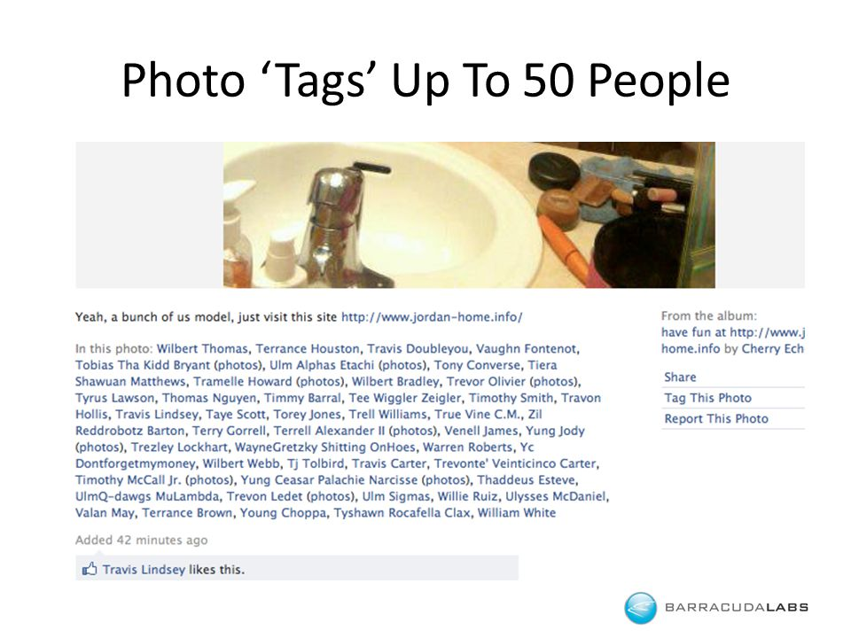 Photo 'Tags' Up To 50 People