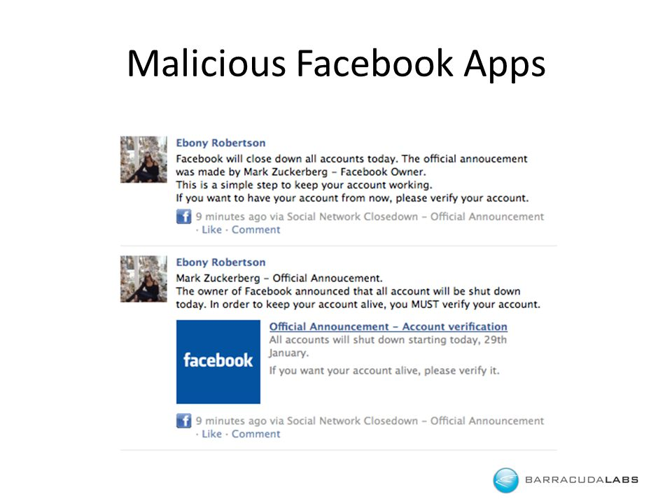 Malicious Facebook Apps