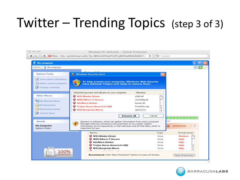 Twitter – Trending Topics (step 3 of 3)