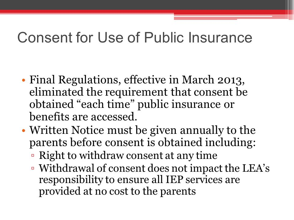 IEP Consent Revocation and Sec.504 The parents withdrew consent for their student to receive IDEA services, but requested that the school provide him with accommodations under Section 504 Revocation of consent for services under IDEA is tantamount to revocation of consent for services under Section 504 and the ADA.