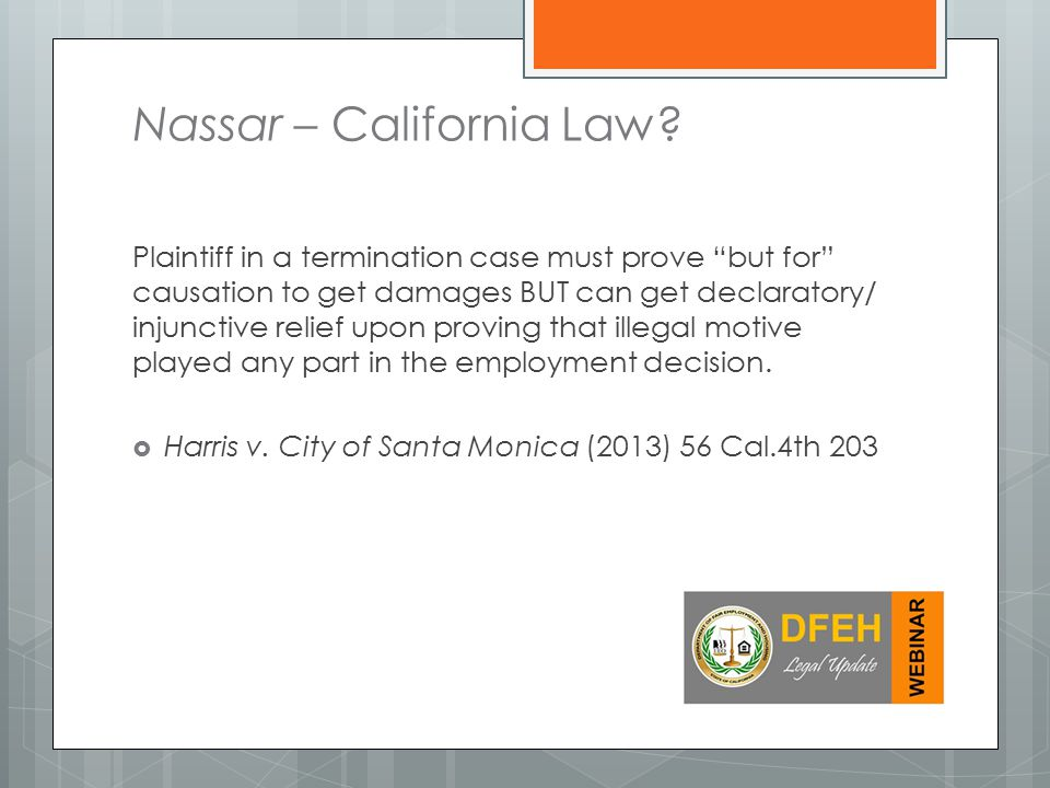 Nassar – California Law.