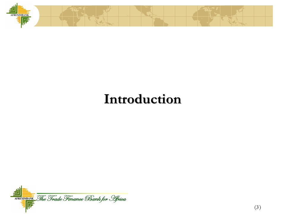 (3) Introduction