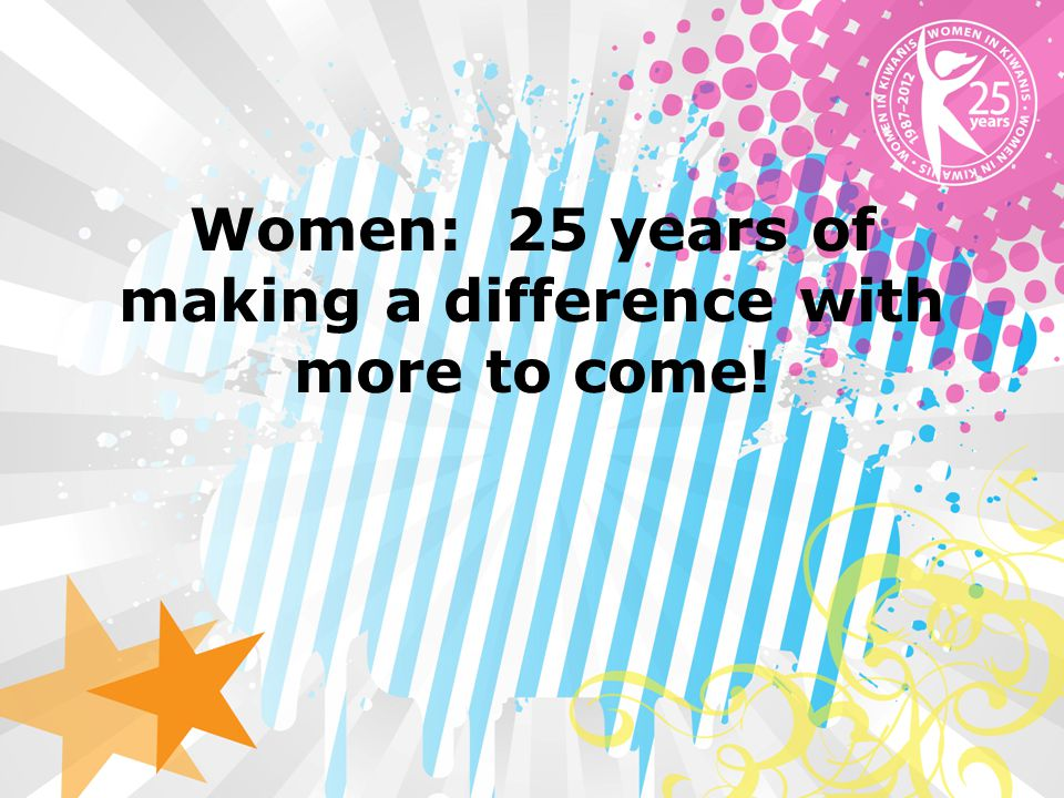 Women: 25 years of making a difference with more to come!