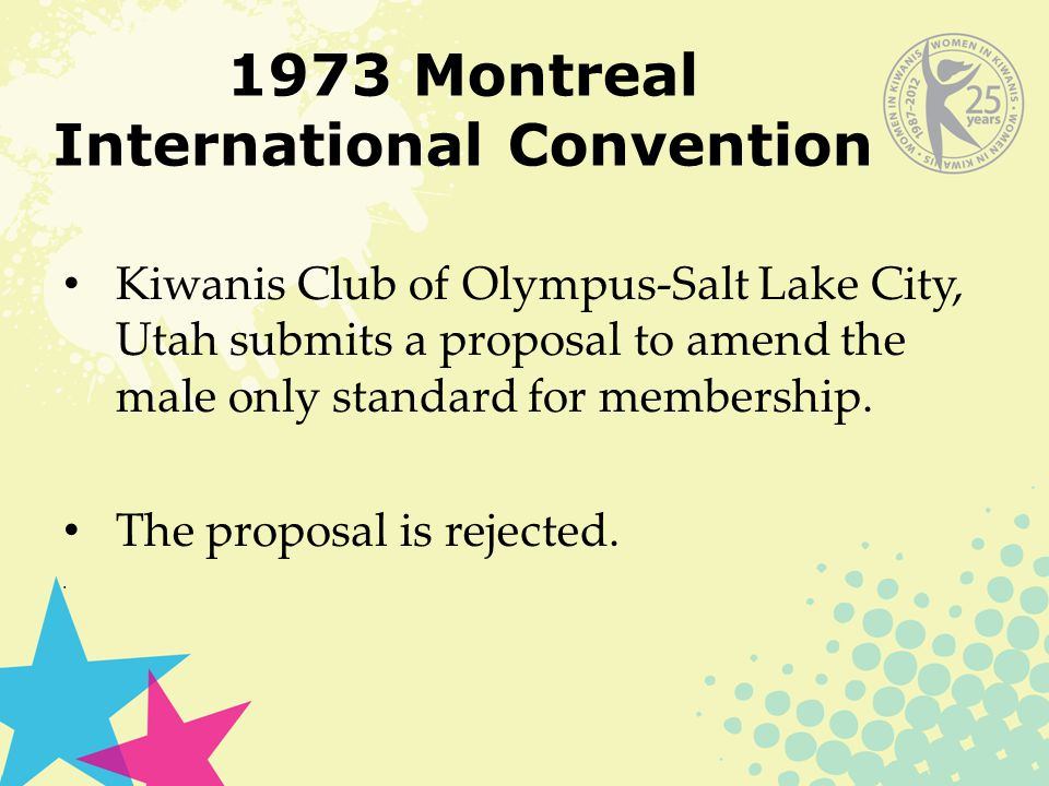 1974 Denver International Convention 1974 – similar amendment to the Montreal convention meets defeat