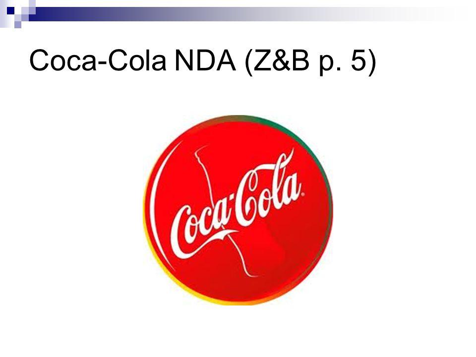 Coca-Cola NDA (Z&B p. 5)