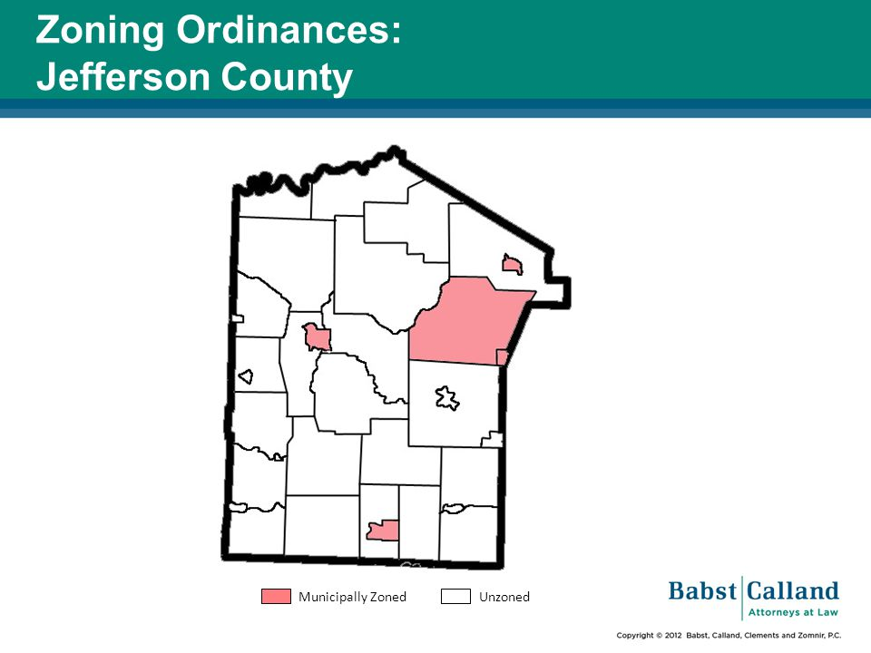 Zoning Ordinances: Jefferson County Municipally Zoned Unzoned
