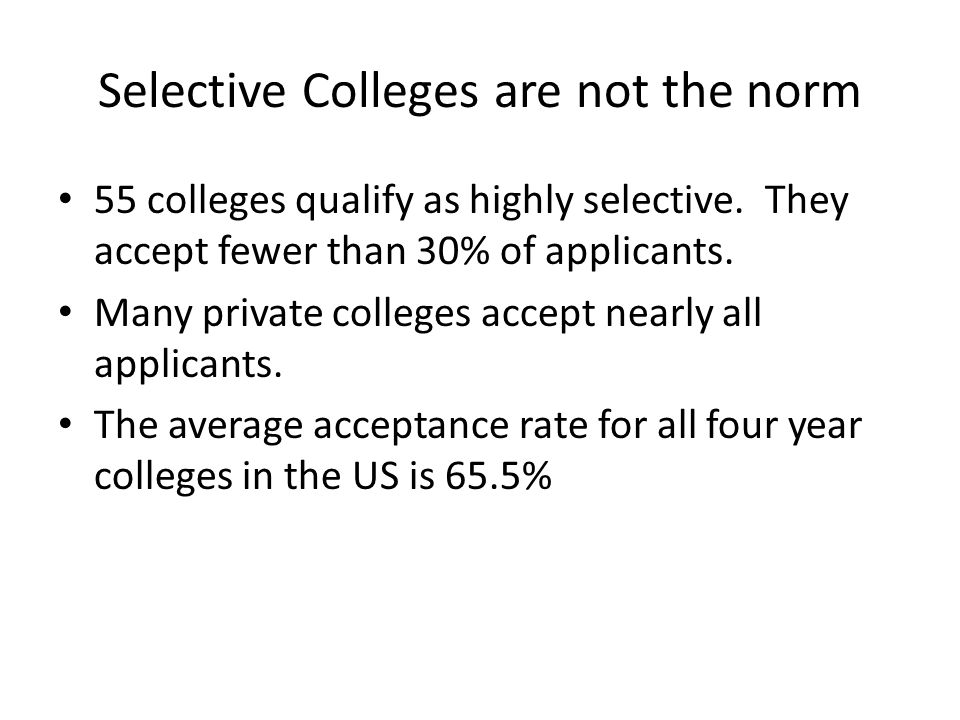 Selective Colleges 54% of corporate leaders and 42% of government leaders were graduates of just 12 institutions – Harvard, Yale, Chicago, Stanford, Columbia, MIT, Cornell, Northwestern, Princeton, Johns Hopkins, Penn and Dartmouth