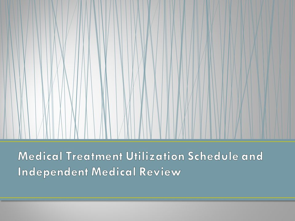Treatment guidelines were already in place pre-S.B.