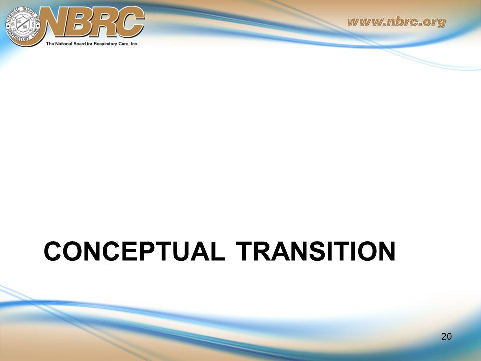 CONCEPTUAL TRANSITION 20