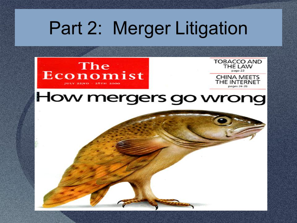 Part 2: Merger Litigation