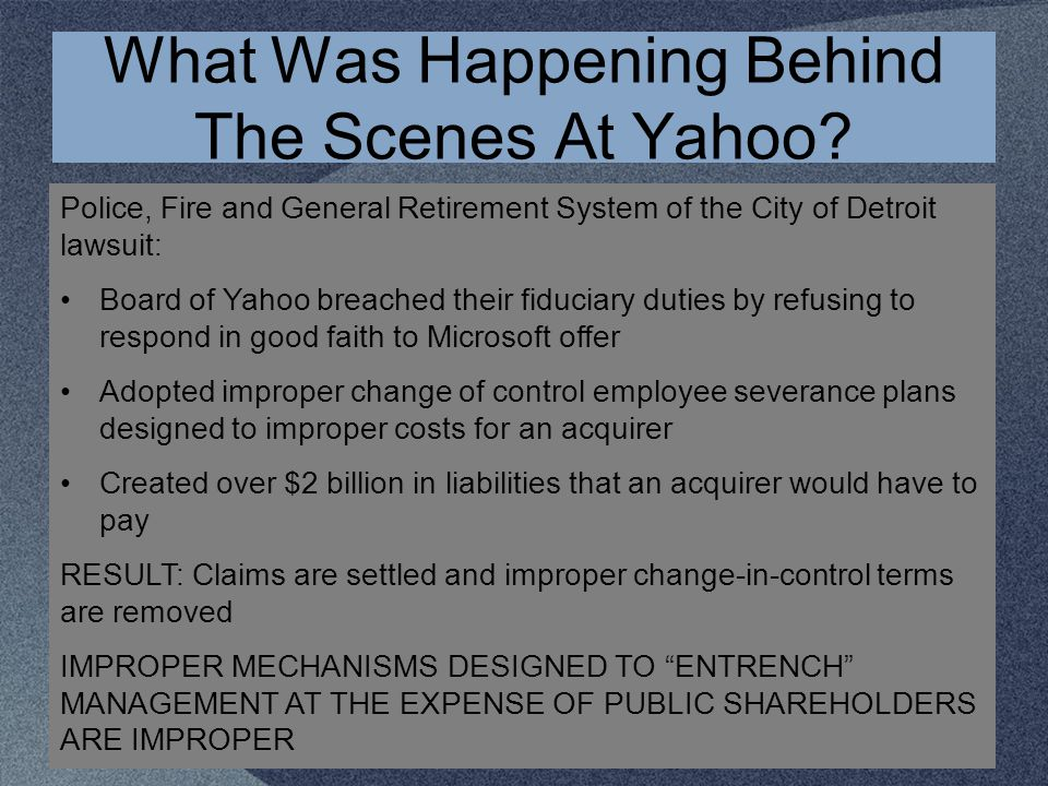 What Was Happening Behind The Scenes At Yahoo.